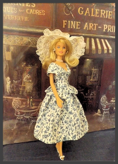 Flirtation    Vintage Inspired Hand Stitched Barbie Doll Dress. The Cottage at Rosecliff